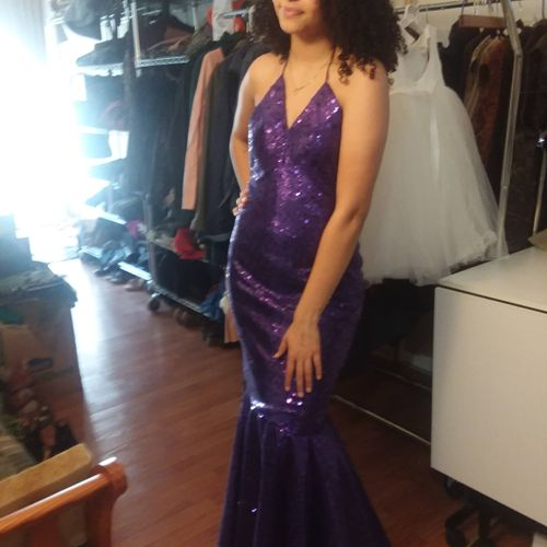 Azjure Patterson's prom gown
