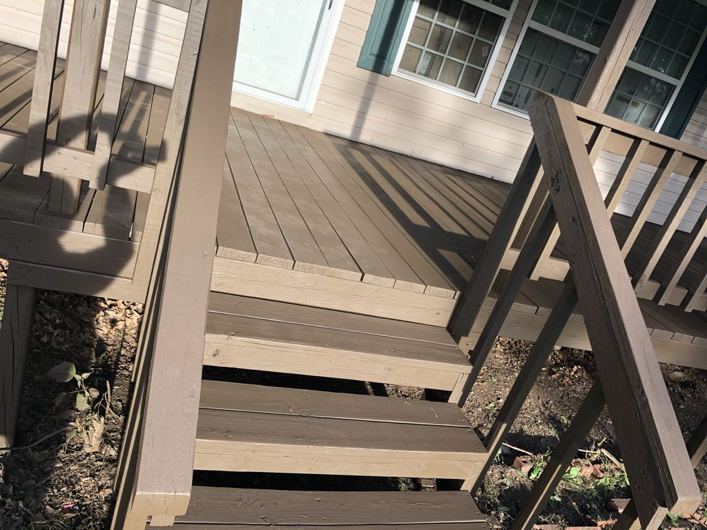 Faded deck to Solid stand deck make over