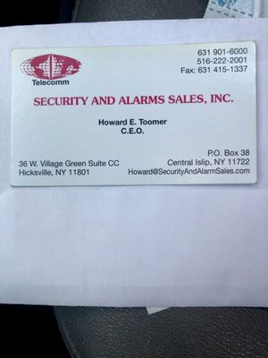 Avatar for SECURITY and ALARMS SALES INC Hicksville, NY Thumbtack