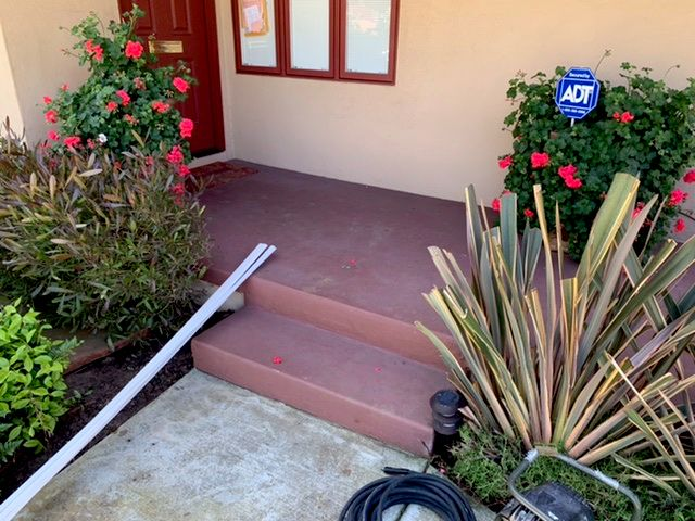 Outdoor Saltillo tile project