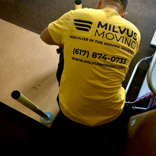 At Milvus Moving all the disassembly and reassembly of the furniture is FREE. There are mo extra charges or fees.