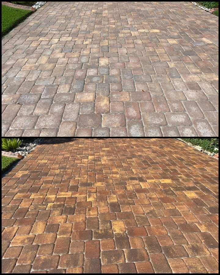 Pavers - Clean Sand and Seal