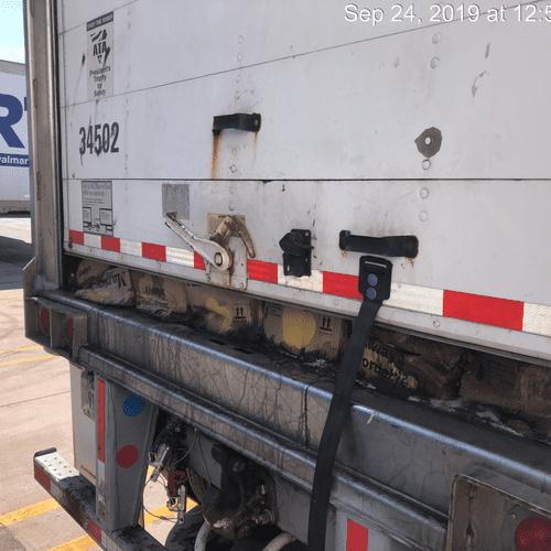 Truck full of rotten food
