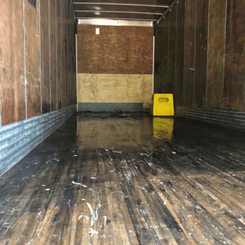 Truck cleaned of rotten food