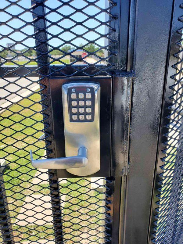 Gate keypad lock installation