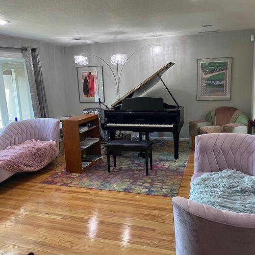 My Piano Studio with my 6'1 Yamaha Grand