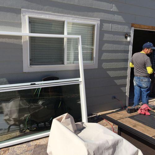 Prepping home for new Sliding Glass door