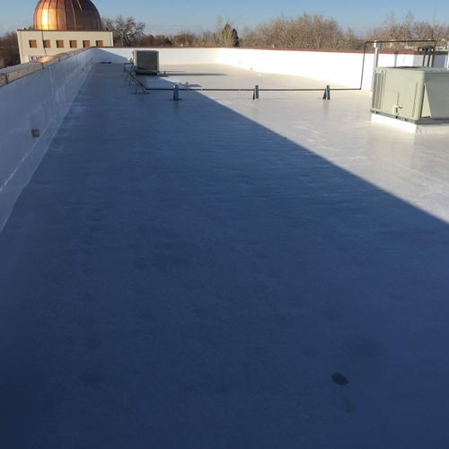 New Commercial Roof Coating in Aurora