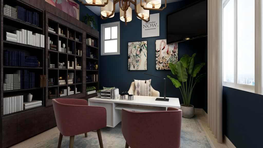 Virtual Interior Styling - Home Office