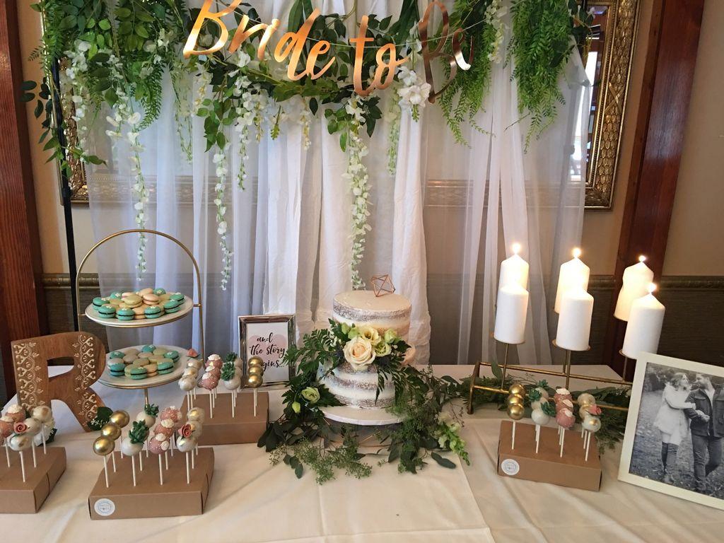 Intimate Bridal Shower Cake