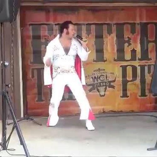 performing elvis