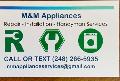 Avatar for M&M Appliances Rochester, MI Thumbtack