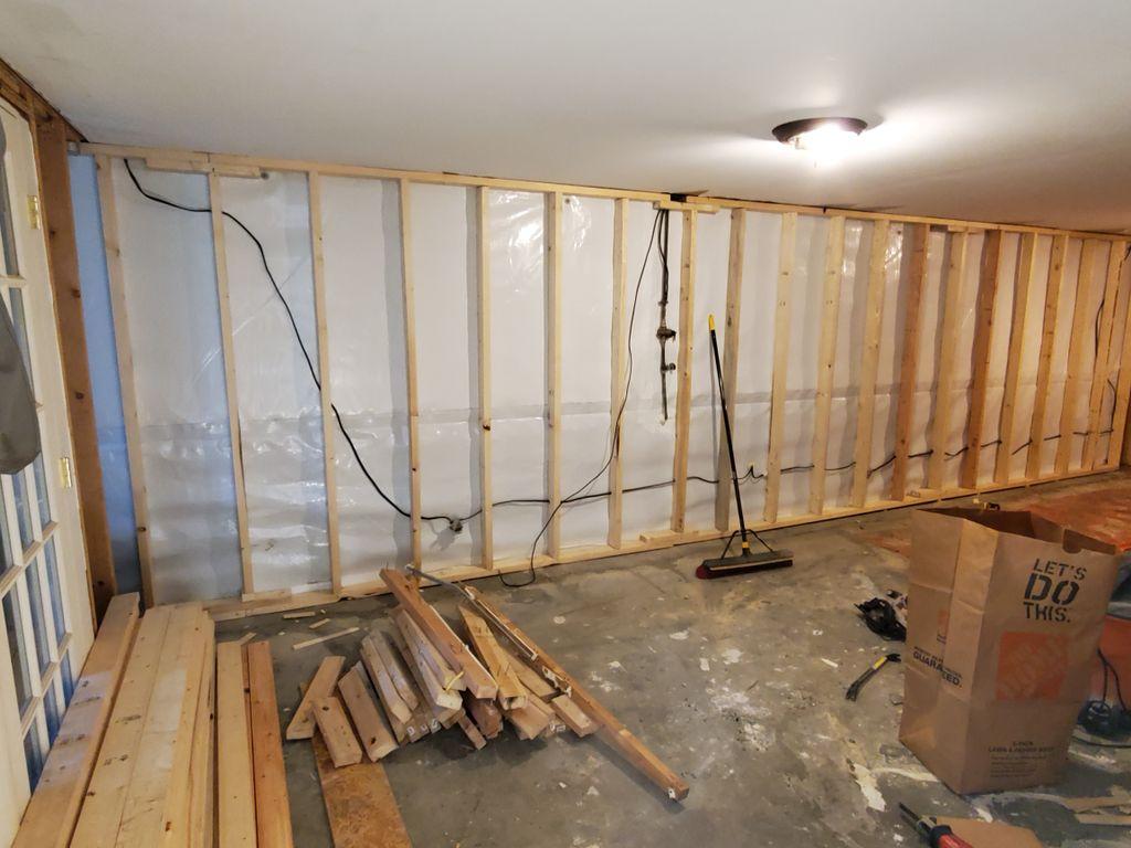 Finishing entire basement w a bathroom