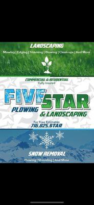 Avatar for Five Star Plowing & Landscaping Buffalo, NY Thumbtack