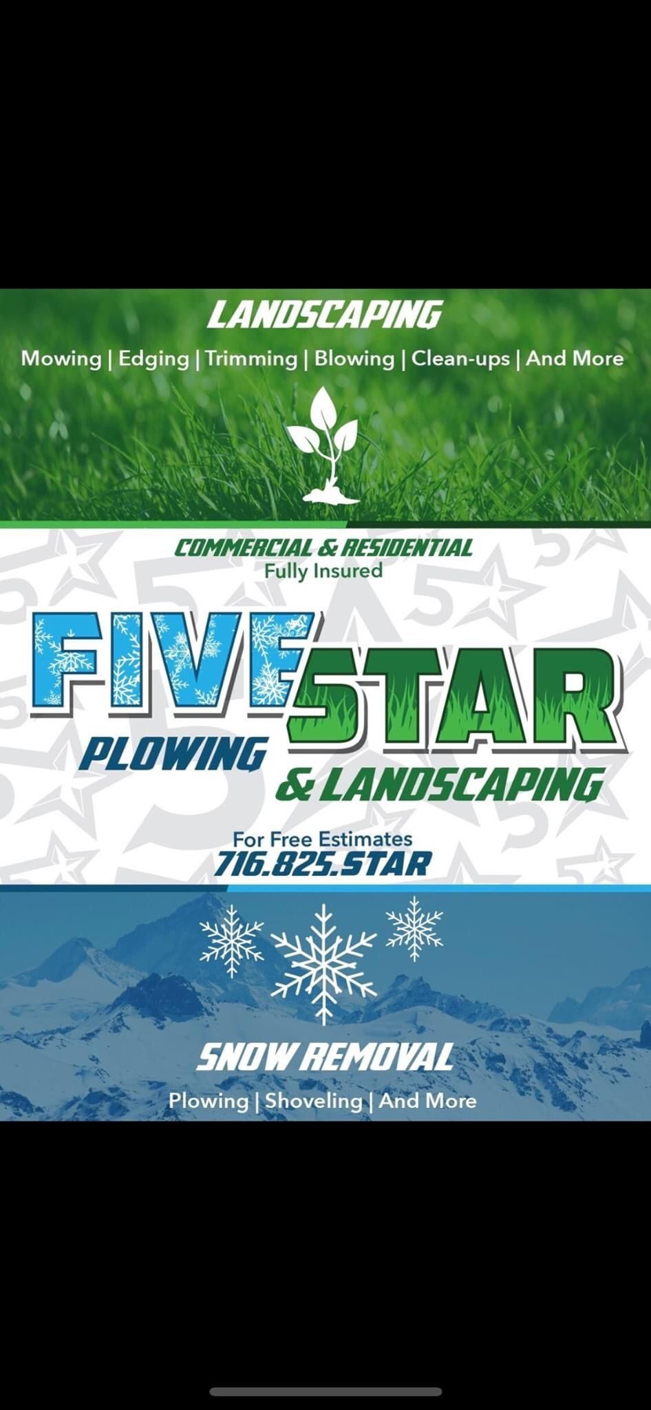Five Star Plowing & Landscaping