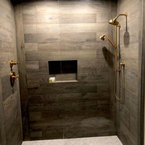 Bathroom Remodel: Walker Zanger tiles and Kohler Shower kit
