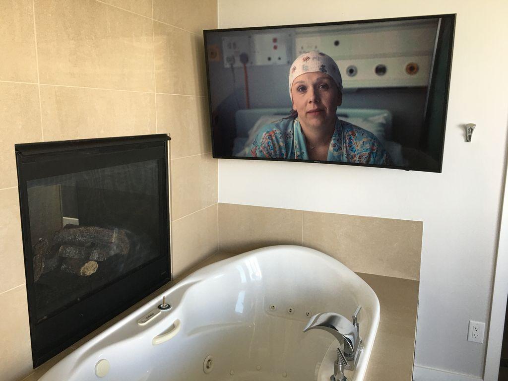 Bathroom TV Hang