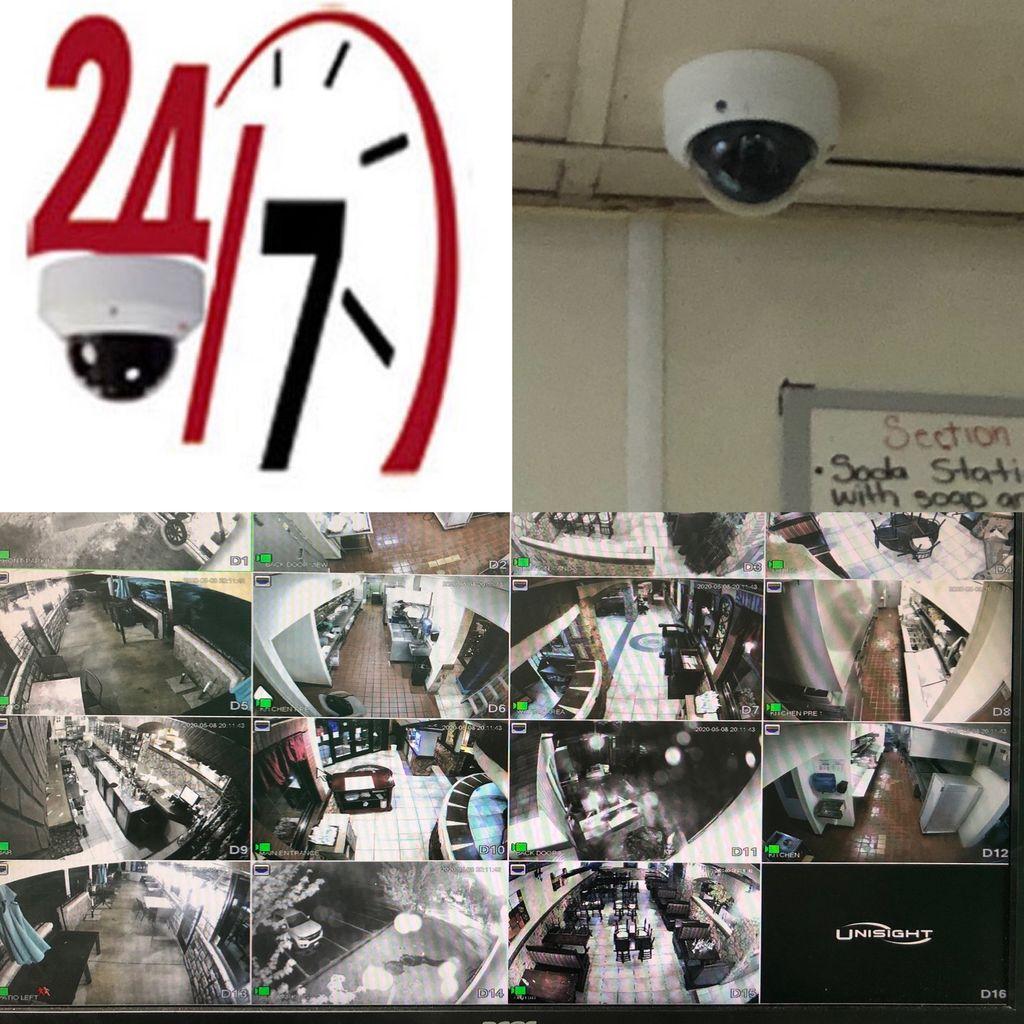 Plaza Azteca Restaurant 15 IP cameras install