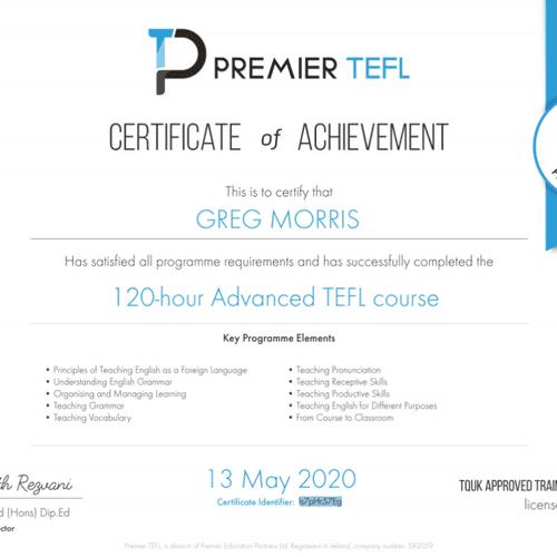 TEFL Certified