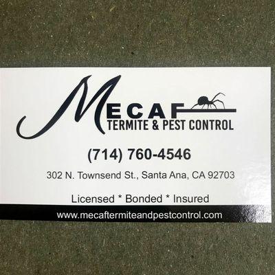 Avatar for Mecaf Termite and Pest Control Santa Ana, CA Thumbtack