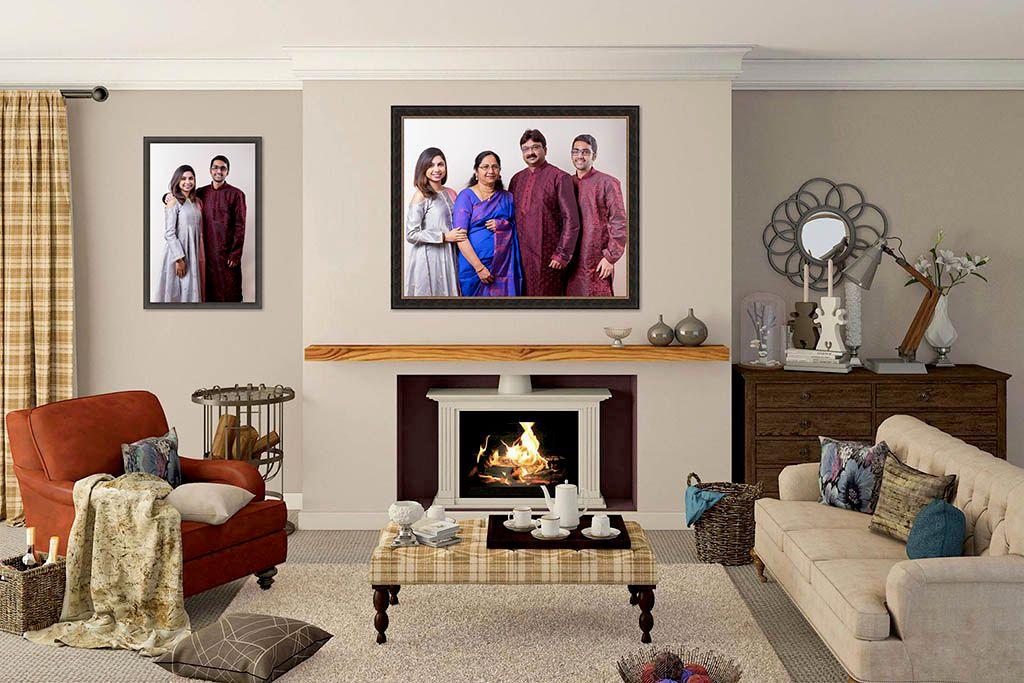 Living Room Design for Family Portrait Session