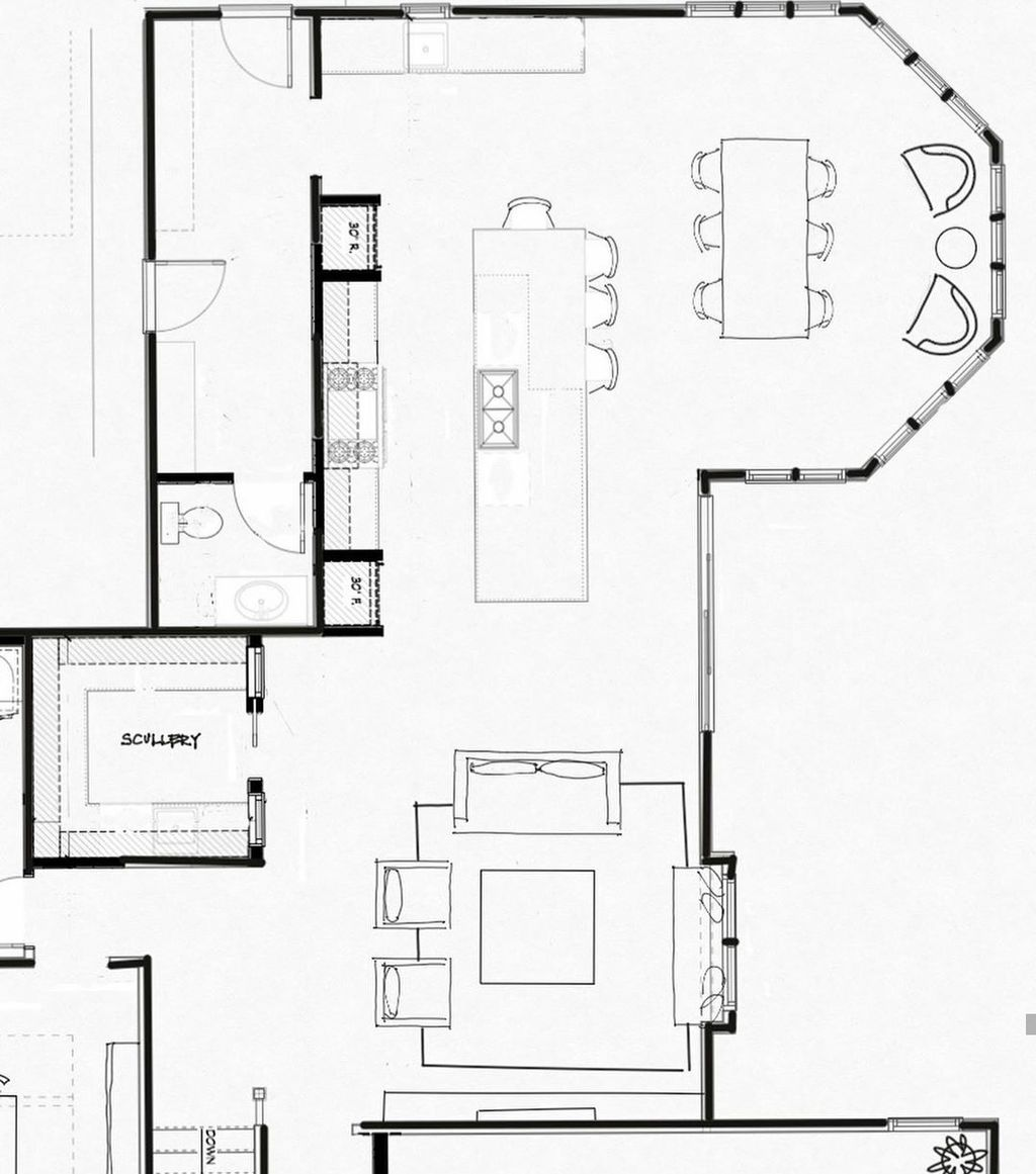 Before and After Kichen Floor Plan