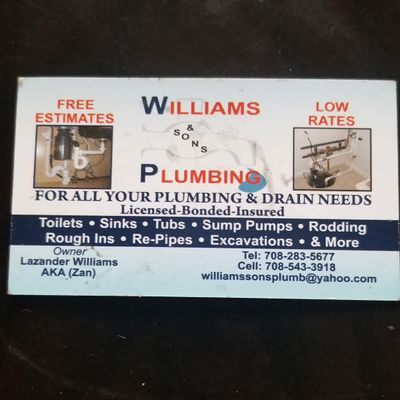Avatar for Williams And Sons Plumbing Richton Park, IL Thumbtack