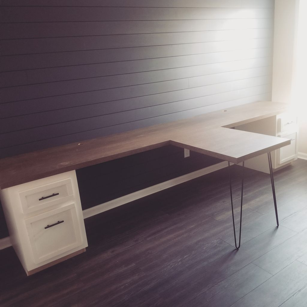 Custom Desk and Cabinets