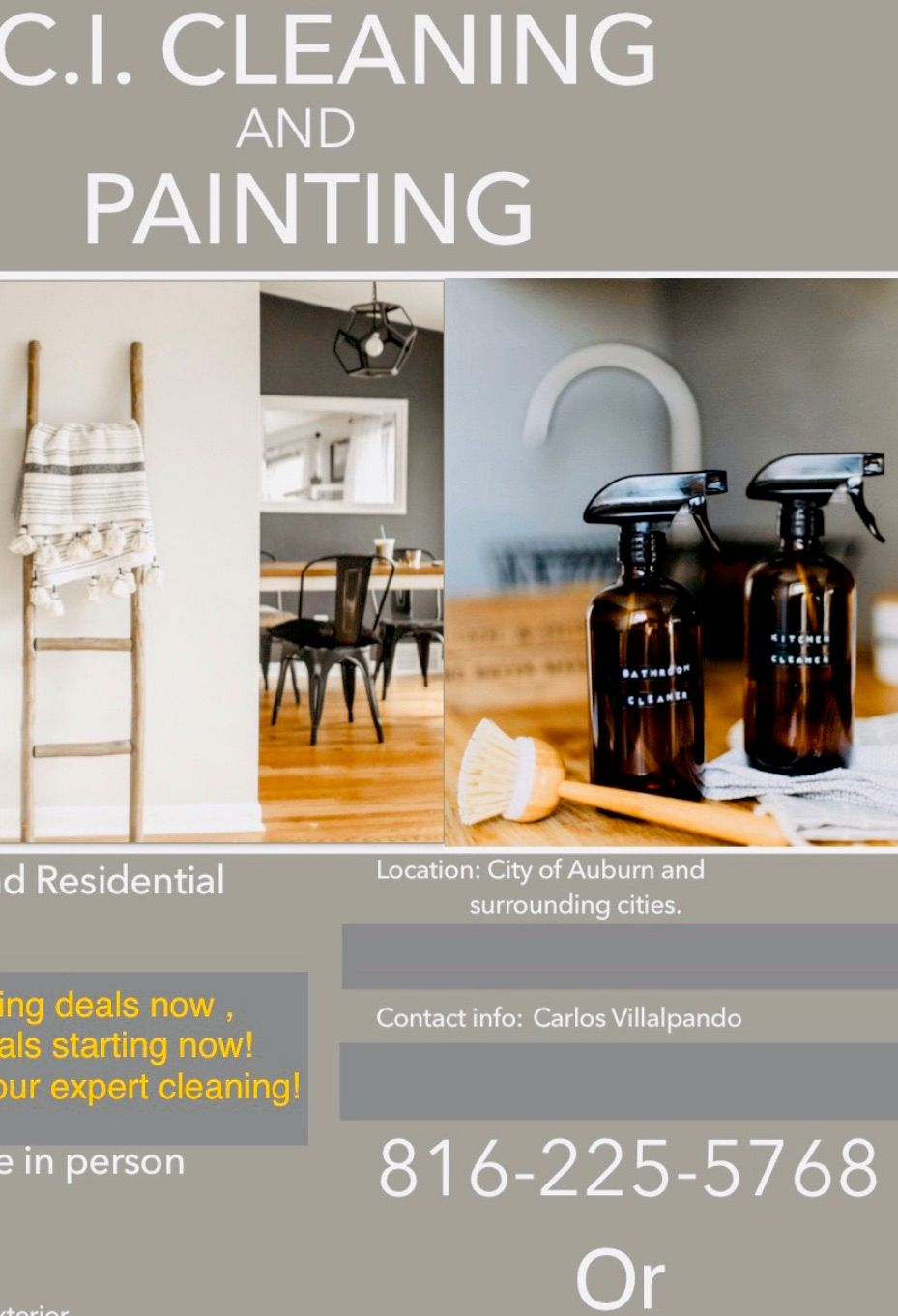CI CLEANING AND PAINTING