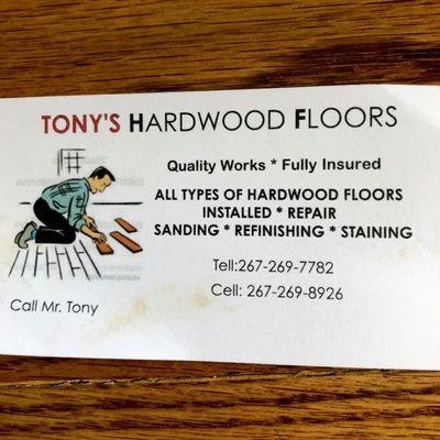 Avatar for Tony'Hardwood Floors and HVAC LLC Philadelphia, PA Thumbtack