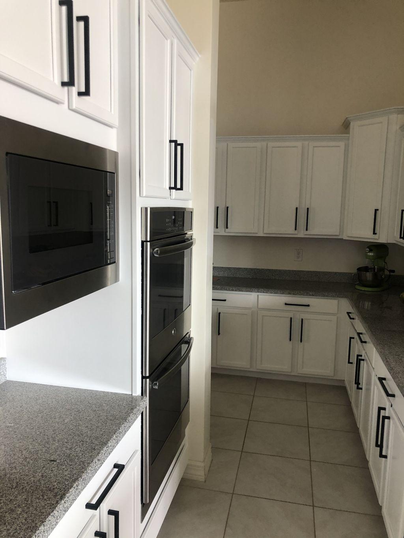 White Kitchen with black handles