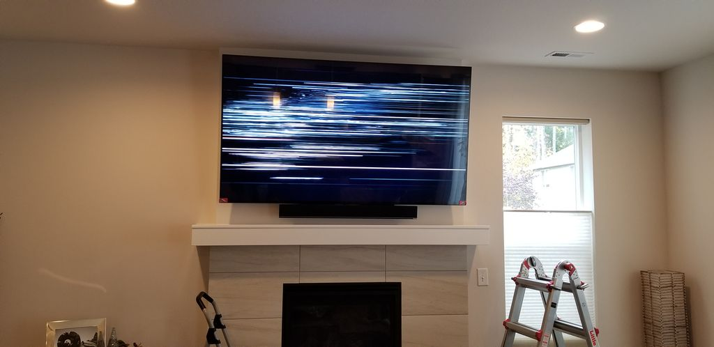 Tv mounting and wire concealment
