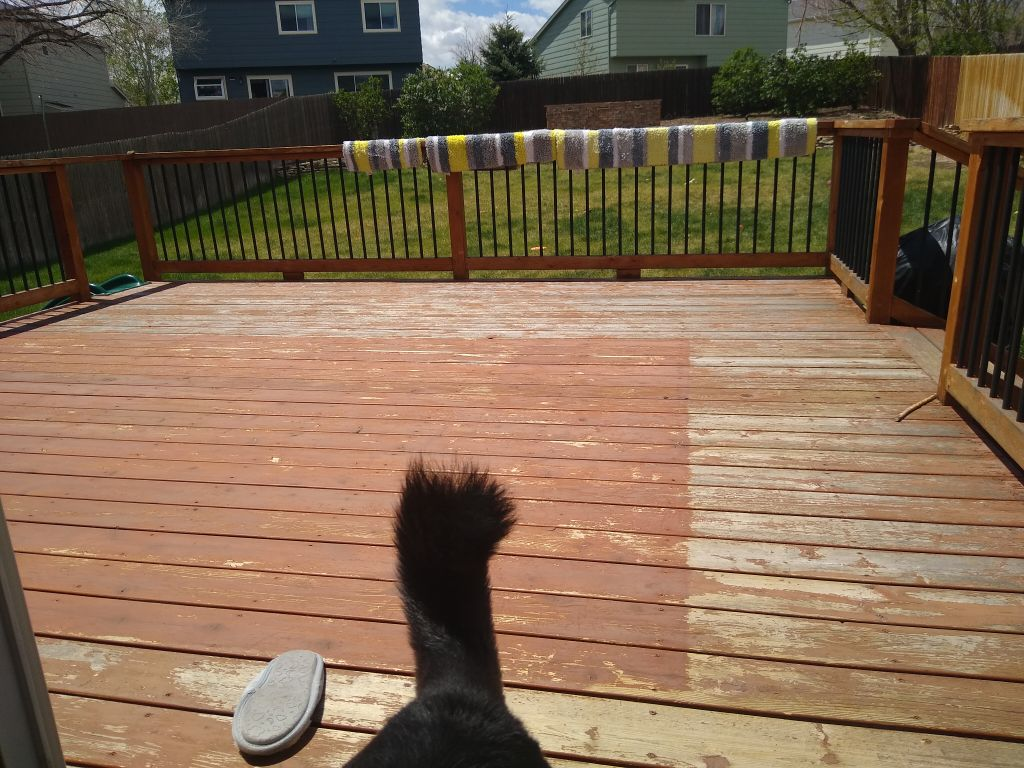 Deck repairs and paint