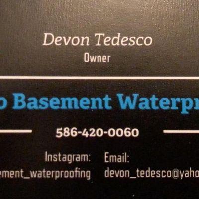 Avatar for Tedesco Basement Waterproofing LLC Clinton Township, MI Thumbtack