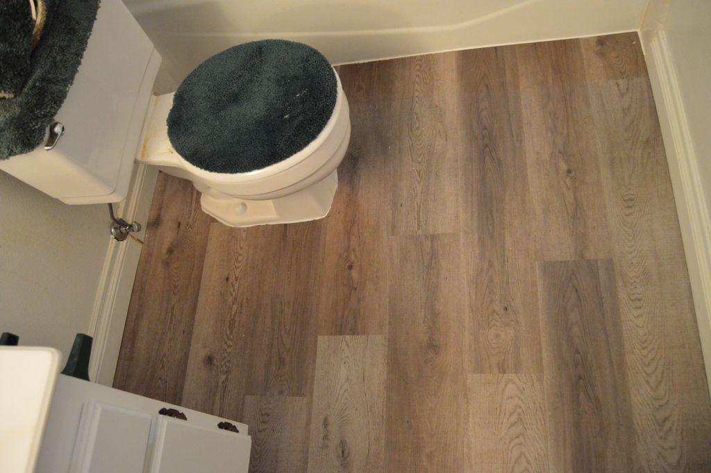 Bathroom flooring remodel