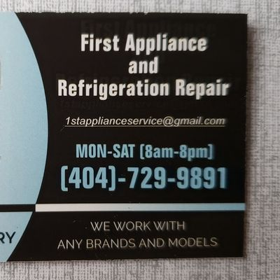 Avatar for First appliance and Refrigeration repair