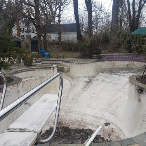 """Pool Renovation """"A"""" Before"""
