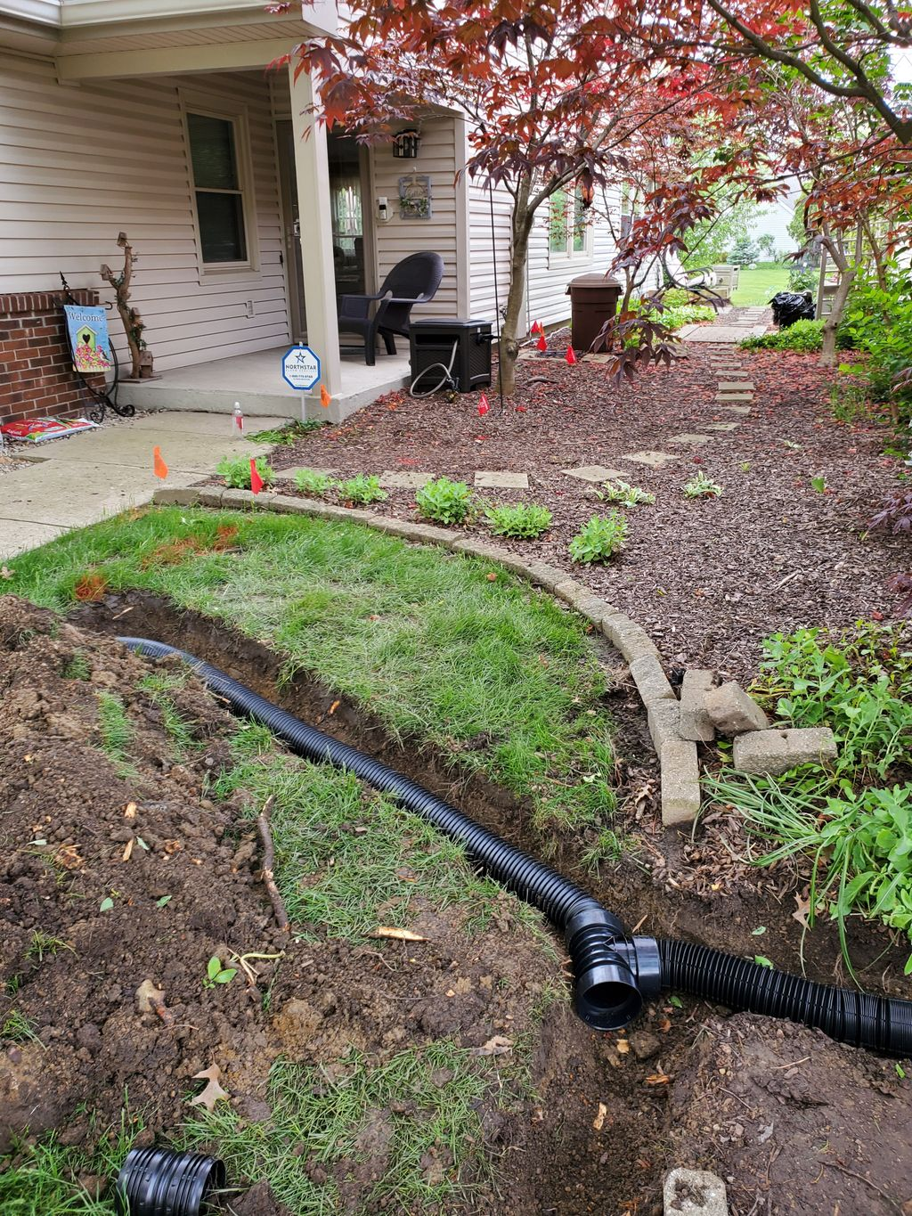 MULCHING AND DRAINS