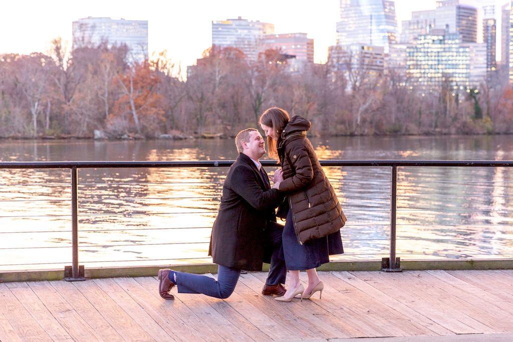 Surprise Proposal at Georgetown Waterfront
