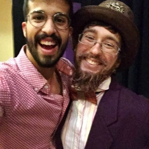 With Student Aubrey after Fabulous Début as Willy Wonka!