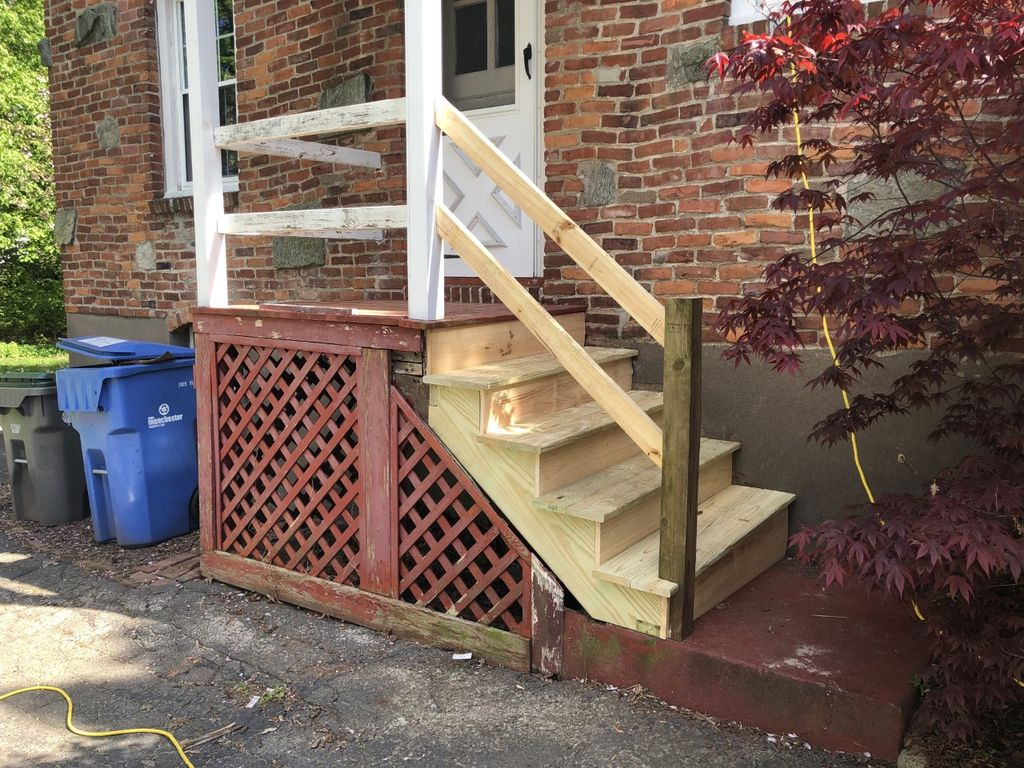 Porch Stairs Rebuild