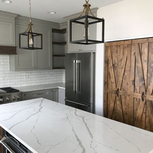 Custom Barn Door Kitchen