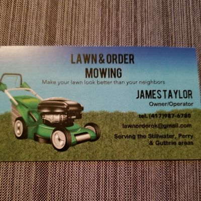 Avatar for Lawn & Order Mowing Perry, OK Thumbtack