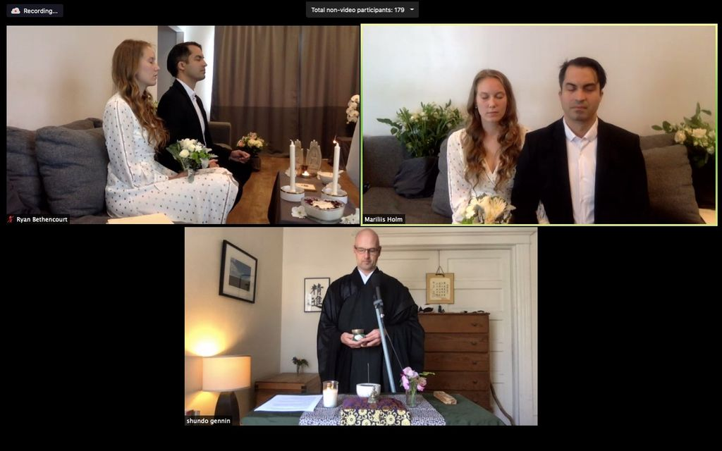 Wedding Officiant on Zoom