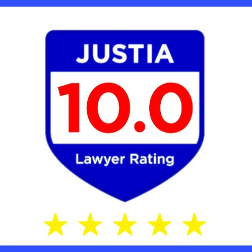 Justia 10.0 Lawyer Rating