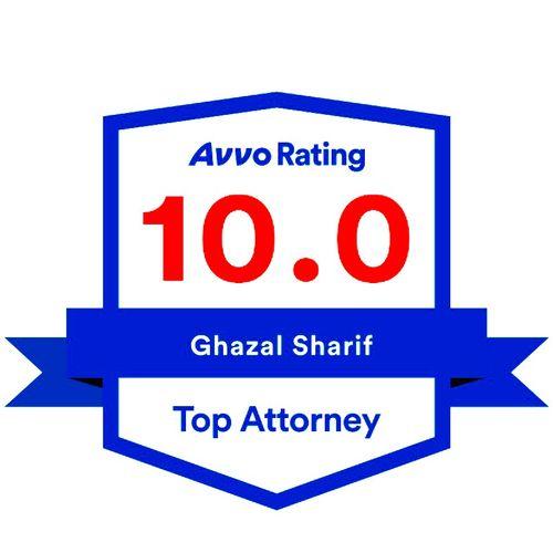 Avvo 10.0 Top Attorney Rating