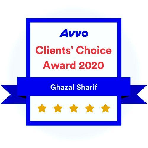 2020 Avvo Clients' Choice Award