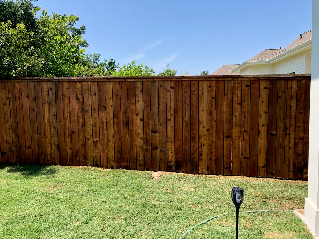 290ft Fence Repair, Power Wash, and Stain