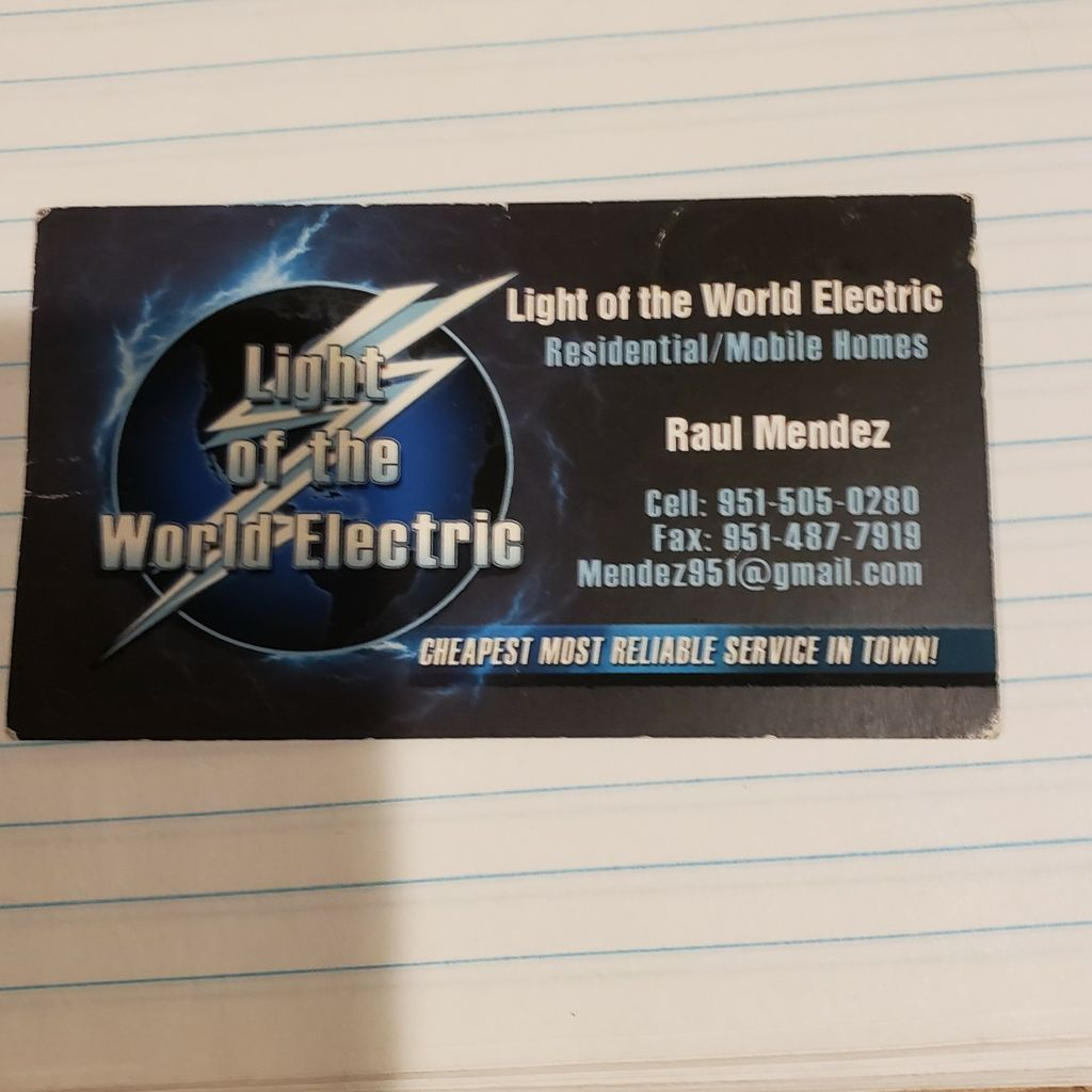 Light of the World Electric inc