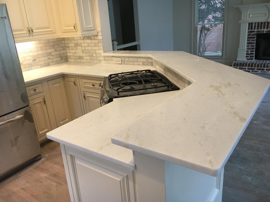 White Hard-Marble Kitchen